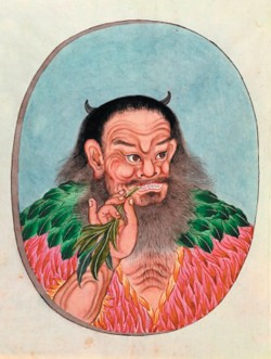 The mythical emperor Shen Nung.