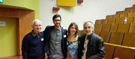 Prof. Hanuš, Sebastien Beguerie, Dr Patrizia Carrieri, et Bertrand Rambaud President de l'UFCM