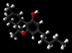 Modelo de la molécula de THC