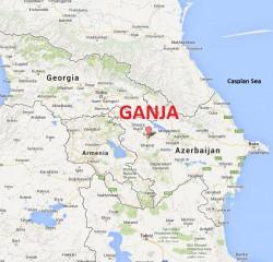 La ciudad de Ganja en Azerbaiyán (Fuente: Google Maps)