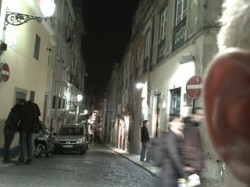 A somewhat obvious drug deal being conducted on a Lisbon street (Mark Hillary)