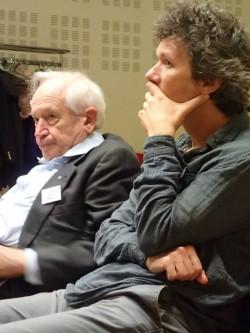 El Profesor Raphael Mechoulam y el Profesor Manuel Guzmán durante una de las conferencias del evento