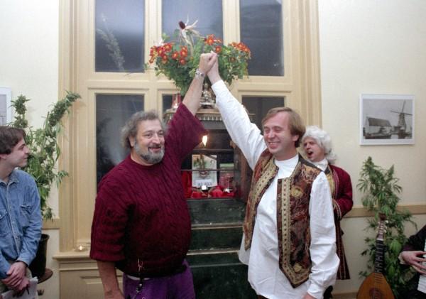 Jack Herer y Ben Dronkers durante la lanzamiento de la variedad Jack Herer.