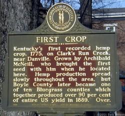 La première culture de chanvre répertoriée au Kentucky date de 1775