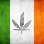 ireland flag and cannabis leave