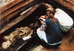 La Princesse Oukok a été découverte en 1993 dans une sépulture parsemée de bijoux et autres biens, y compris une boîte contenant du cannabis (© 56th Parallel).