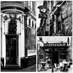 quelques exemples de coffee shops d'Amsterdam célèbres dans le monde entier.