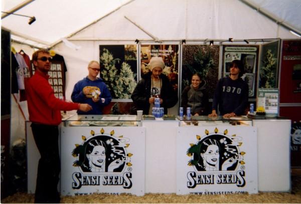 Sensi Seeds in Glastonburry.