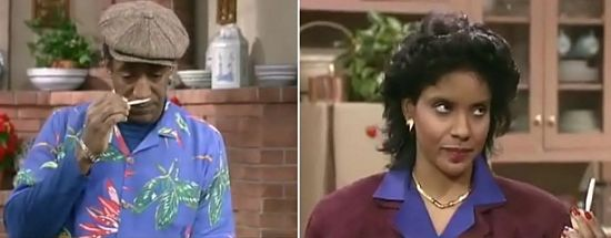 Heathcliff en Clair Huxtable, The Cosby Show - © Carsey-Werner Company