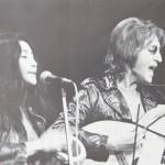 John Lennon & Yoko Ono tijdens de Freedom Rally