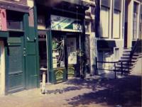 De gevel van het Cannabis Info Museum, voorloper van het Hash Marihuana & Hemp Museum in Amsterdam.